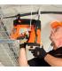 Монтаж держателя кабеля с помощью газового монтажного пистолета