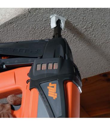 Монтаж клипсы для гофротрубы SPIT E-Clip газовым монтажным пистолетом