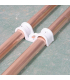 Фиксация медных труб с помощью двухсторонней монтажной скобы P-Clip