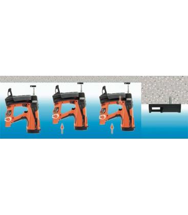 Монтаж площадки для стяжек и хомутов газовым монтажными пистолетом