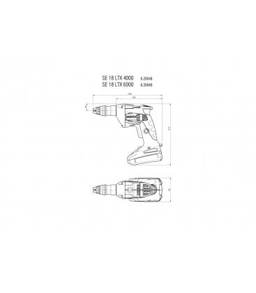 METABO SE 18 LTX 4000 + SM 5-55 Аккумуляторный ленточный шуруповерт