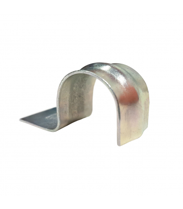 Скоба металлическая - трубный крепеж для монтажных пистолетов