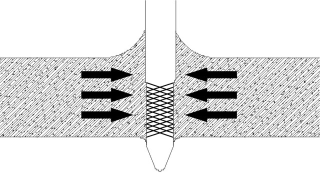 Крепление дюбель-гвоздя