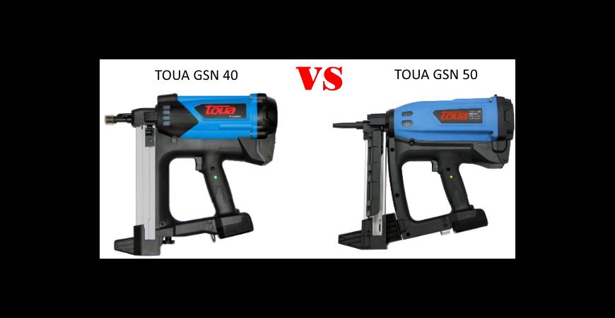 Сравнение моделей монтажных пистолетов TOUA GSN40(B, A) и TOUA GSN50(P, E, +)