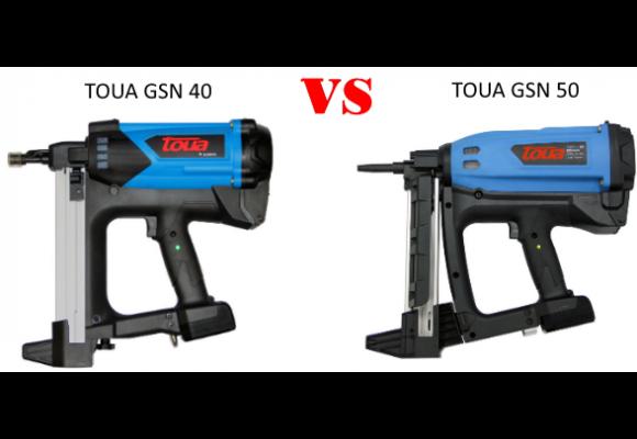 Сравнение монтажных пистолетов TOUA GSN40(B, A) и TOUA GSN50(P, E, +)